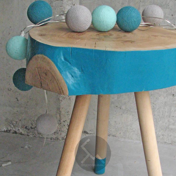 Stolik No.2 Pacman Turkus: styl , w kategorii Sypialnia zaprojektowany przez Studio Minimal Meble