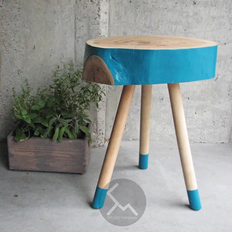 Stolik No.2 Pacman Turkus: styl , w kategorii Salon zaprojektowany przez Studio Minimal Meble