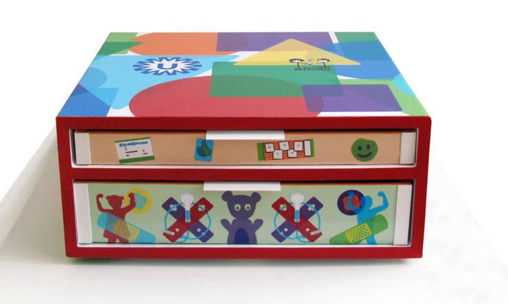Bewust Belonen Box / mini   Wilhelmina Kinderziekenhuis Utrecht:  Ziekenhuizen door studio Che Eyzenbach, Modern