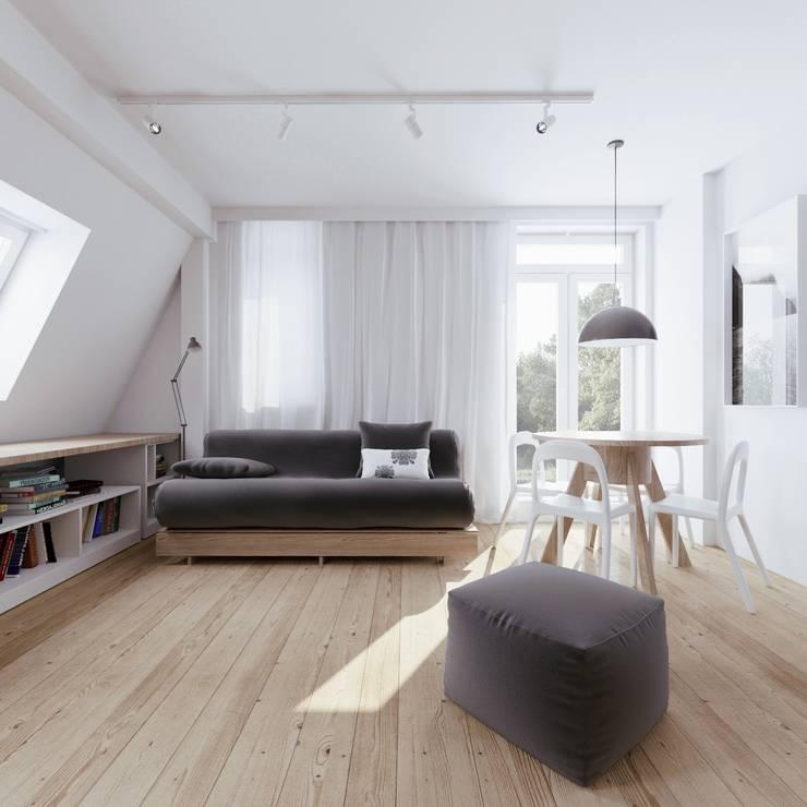 MIESZKANIE AB: styl , w kategorii Salon zaprojektowany przez 081 architekci