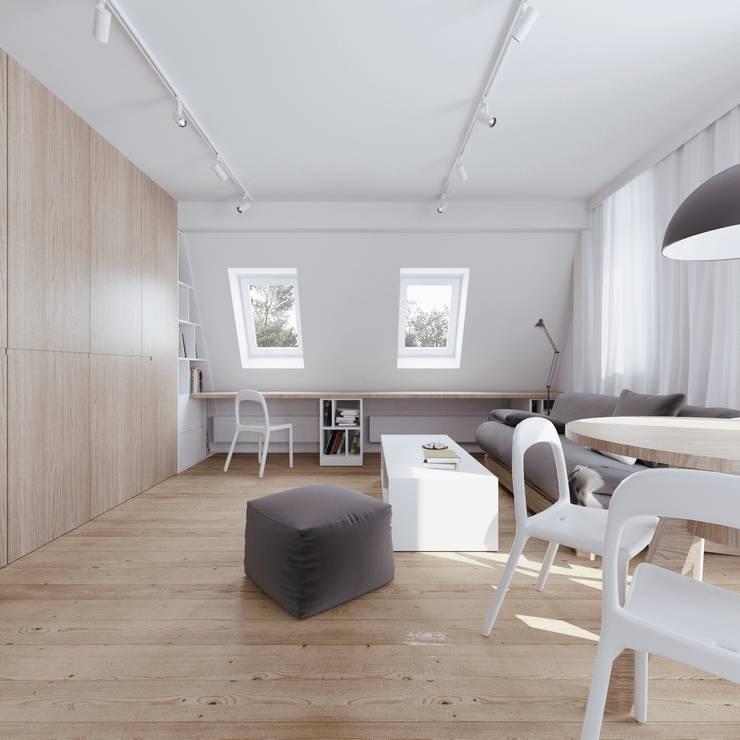 MIESZKANIE AB: styl , w kategorii Domowe biuro i gabinet zaprojektowany przez 081 architekci