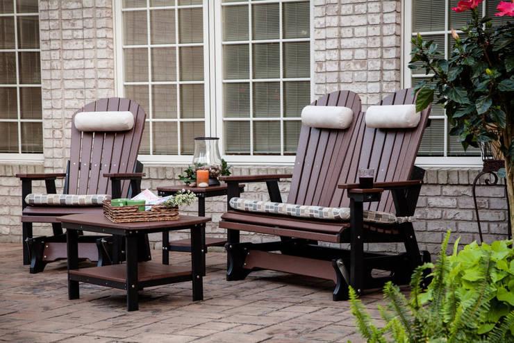 CASA BRUNO banco deslizable Glider Alabama: Balcones y terrazas de estilo  de Casa Bruno American Home Decor
