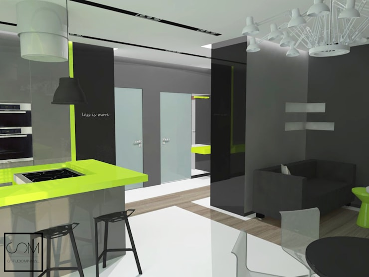 Kawalerka no.4: styl , w kategorii  zaprojektowany przez Studio Minimal