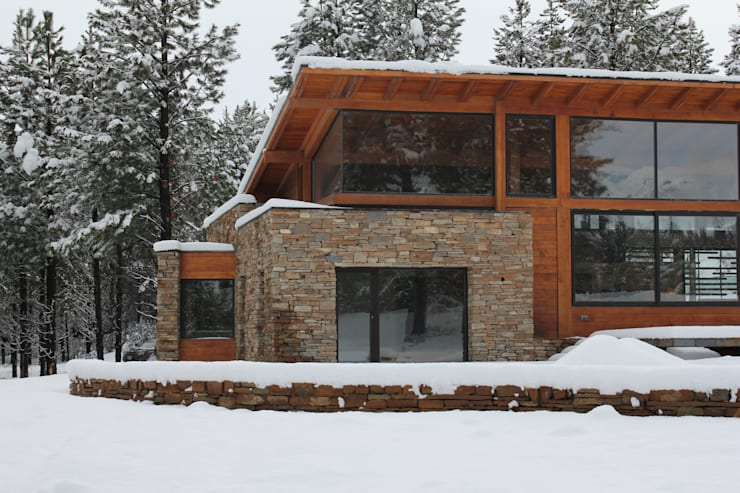 Casa Chapelco Golf – Patagonia Argentina: Casas de estilo moderno por Aguirre Arquitectura Patagonica