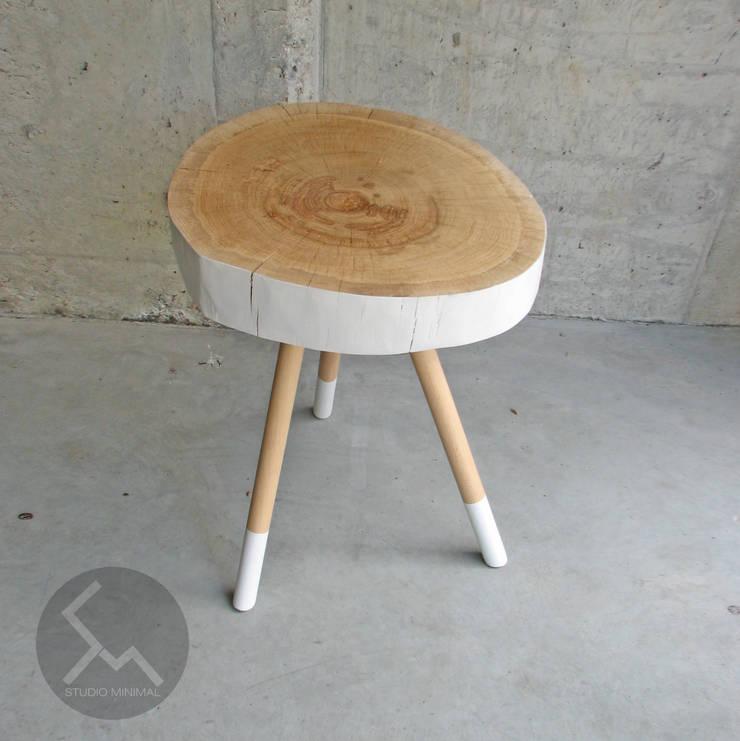 Stolik No.2 Pacman Biały: styl , w kategorii Salon zaprojektowany przez Studio Minimal Meble