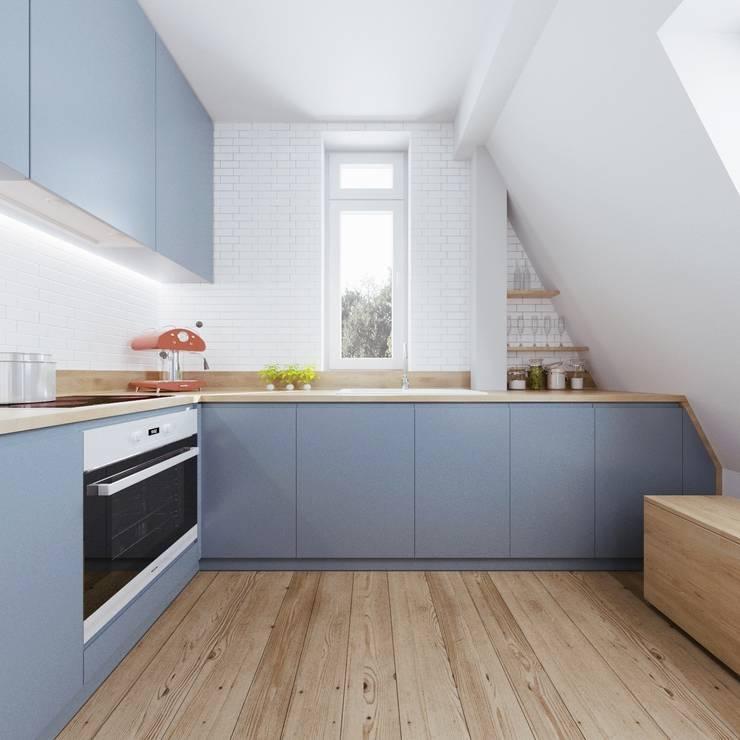 Cocinas de estilo escandinavo por 081 architekci