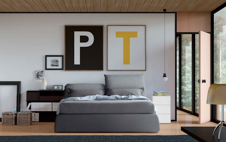 Oriente Bed:  Bedroom by Campbell Watson
