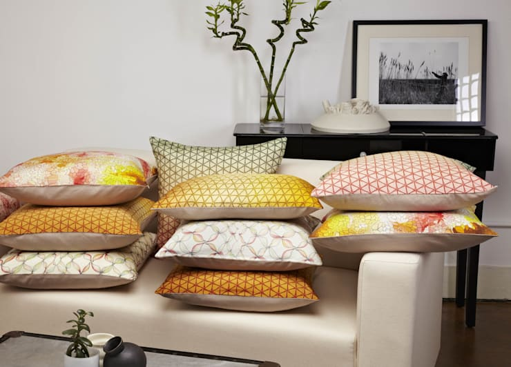 Printed Silk Cushion Collection:  Bedroom by Nitin Goyal London