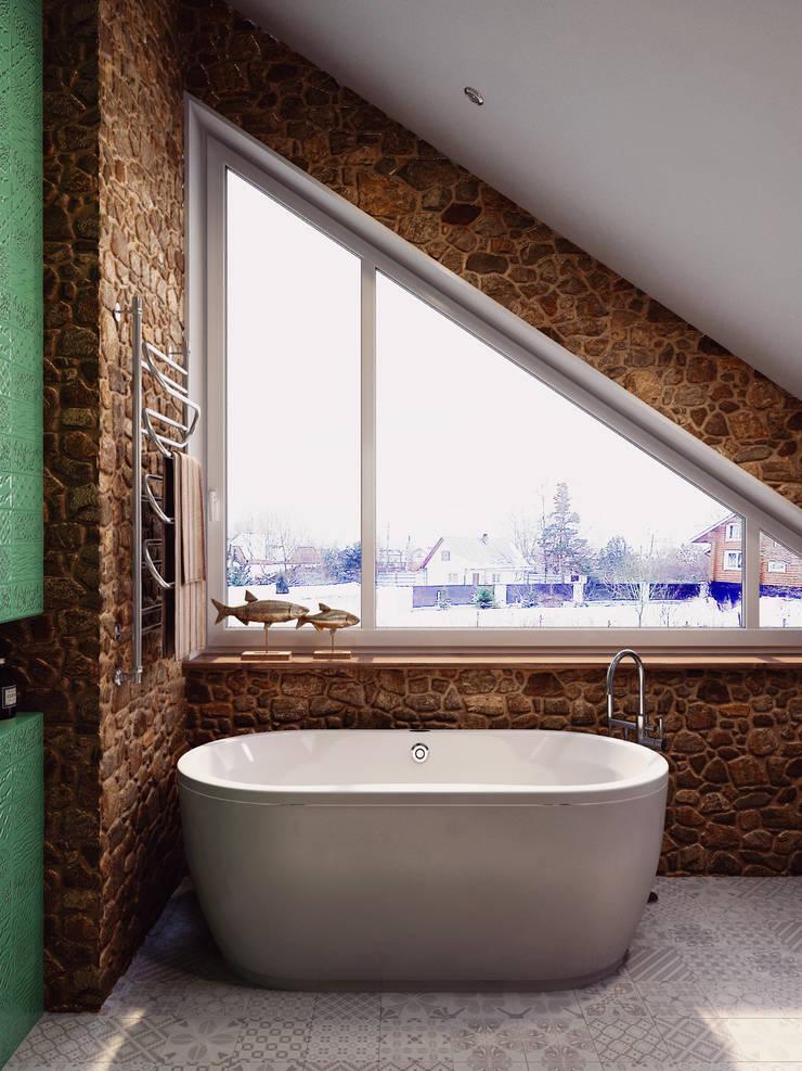 Ванная комната в Порошкинской усадьбе: Ванные комнаты в . Автор – HOMEFORM Студия интерьеров