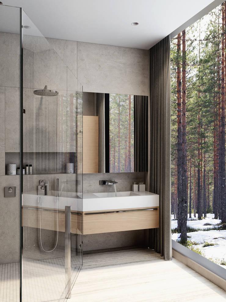 Дом под Зеленогорском: Ванные комнаты в . Автор – HOMEFORM Студия интерьеров