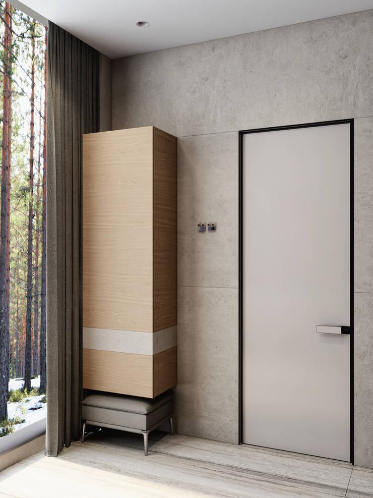 Дом под Зеленогорском: Ванные комнаты в . Автор – HOMEFORM Студия интерьеров, Минимализм