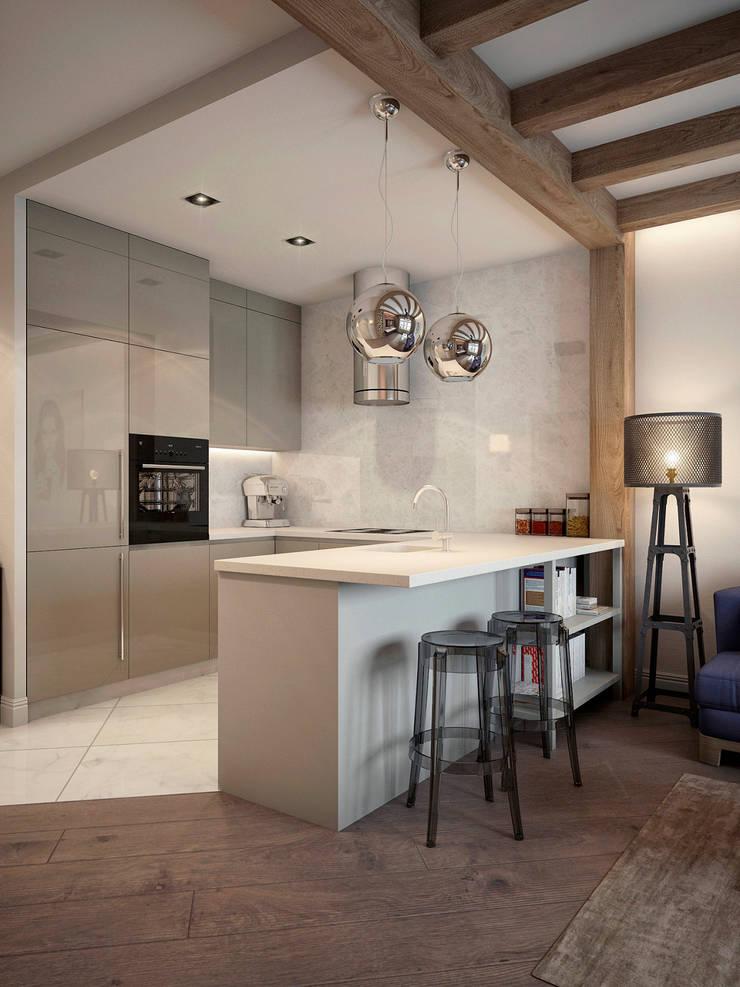 Квартира на ул. Савушкина: Кухни в . Автор – HOMEFORM Студия интерьеров, Лофт