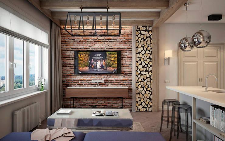 Квартира на ул. Савушкина: Гостиная в . Автор – HOMEFORM Студия интерьеров, Лофт