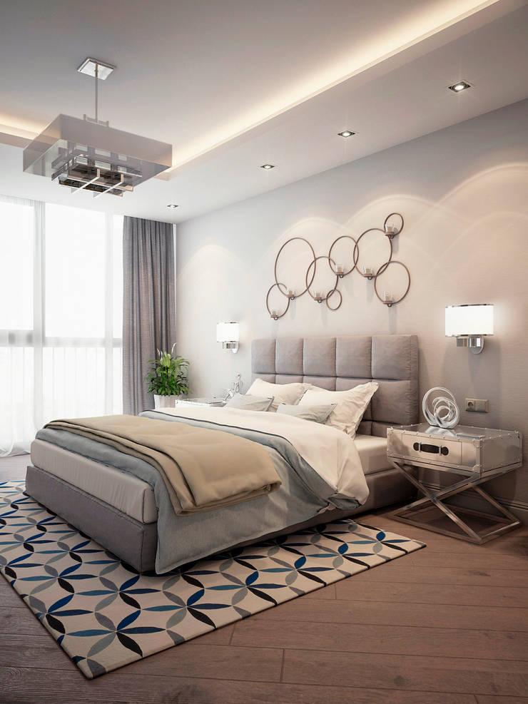 Квартира на ул. Савушкина: Спальни в . Автор – HOMEFORM Студия интерьеров, Лофт