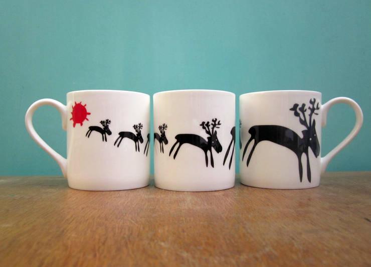 Reindeers mug:  Kitchen by The Black Rabbit