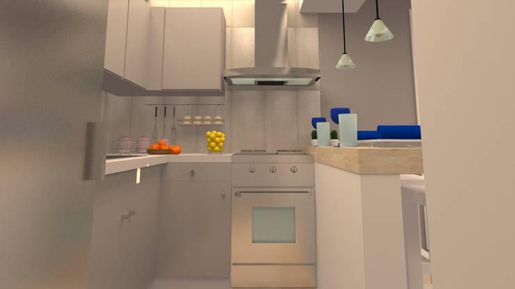 AV. CENTRAL: Cocinas de estilo  por ARDIN INTERIORISMO