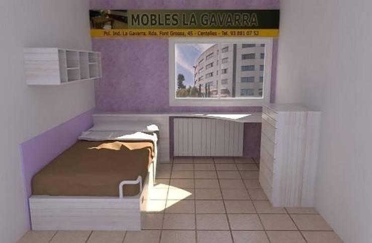 Lilas: Dormitorios infantiles de estilo  de Mobles la Gavarra
