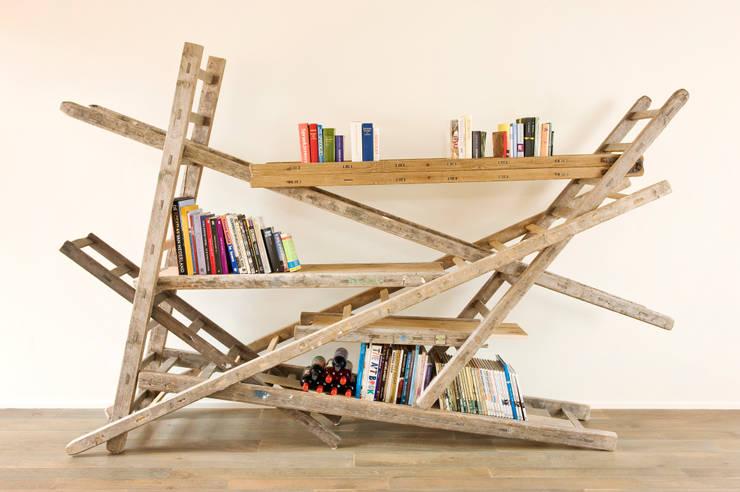 Ladder zat kast:  Woonkamer door Chris Ruhe Meubelkunst
