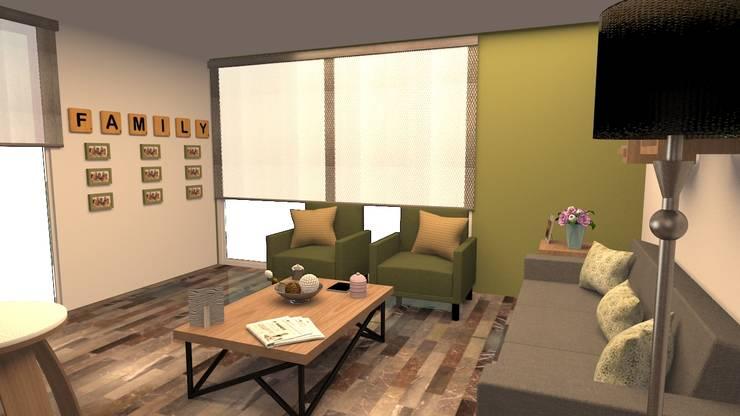 NIEVES: Salas de estilo  por ARDIN INTERIORISMO