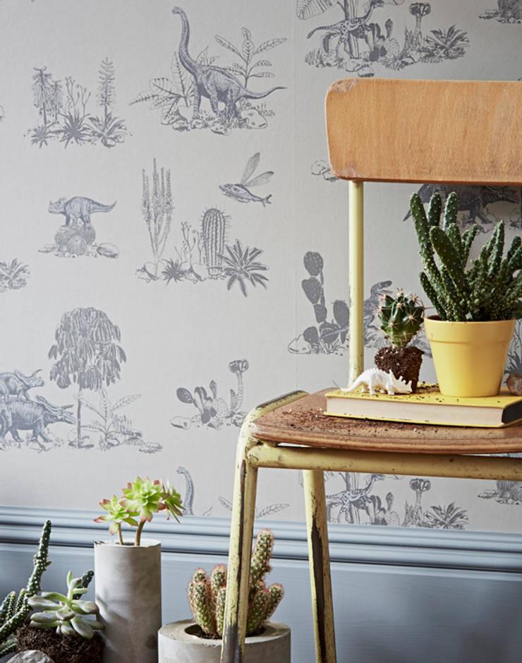Dino Grey Wallpaper:  Walls & flooring by Sian Zeng