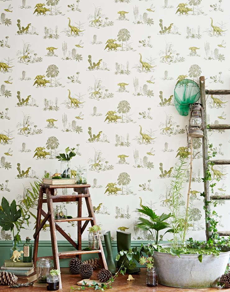 Dino Wallpaper Yellow Green:  Walls & flooring by Sian Zeng