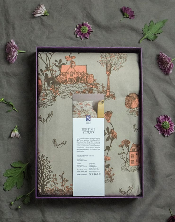 Woodlands Bed Linen Packaged :  Bedroom by Sian Zeng
