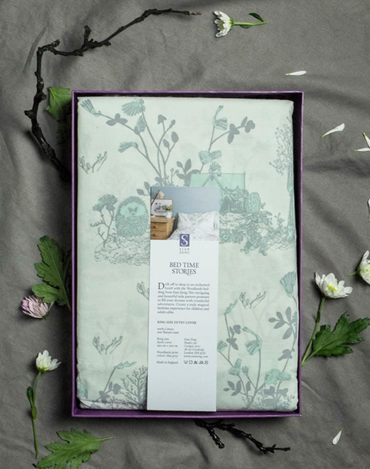 Woodlands Bed linen Packaged:  Bedroom by Sian Zeng