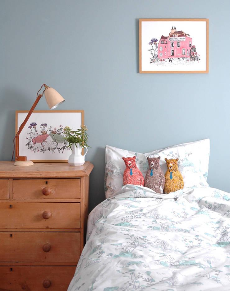 Woodlands Bed Linen :  Bedroom by Sian Zeng