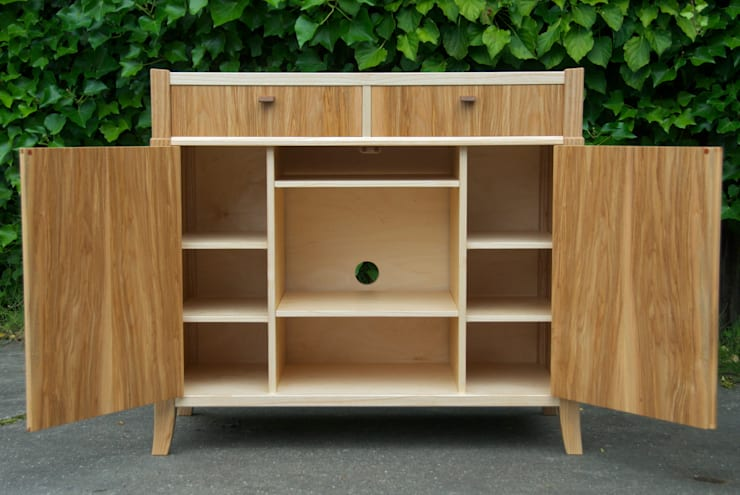 tv & media kast:  Woonkamer door fingerprint furniture