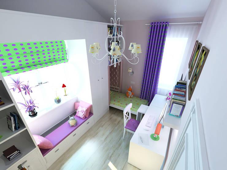 Nursery/kid's room by Дизайн студия Александра Скирды ВЕРСАЛЬПРОЕКТ