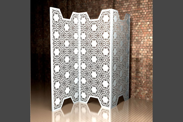 Nottingham Lace screen and room partition:  Living room by Laser cut Furniture & Screens