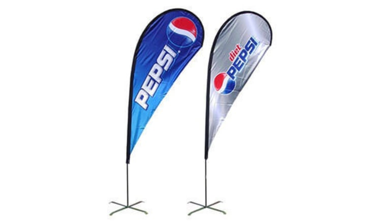 Custom Design Teardrop Flags for Effective Way to Market your Product:   by Banner Buzz