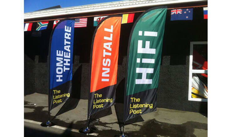 Custom Blade Flags Design Online Ideal for both Indoor and Outdoor Use:   by Banner Buzz