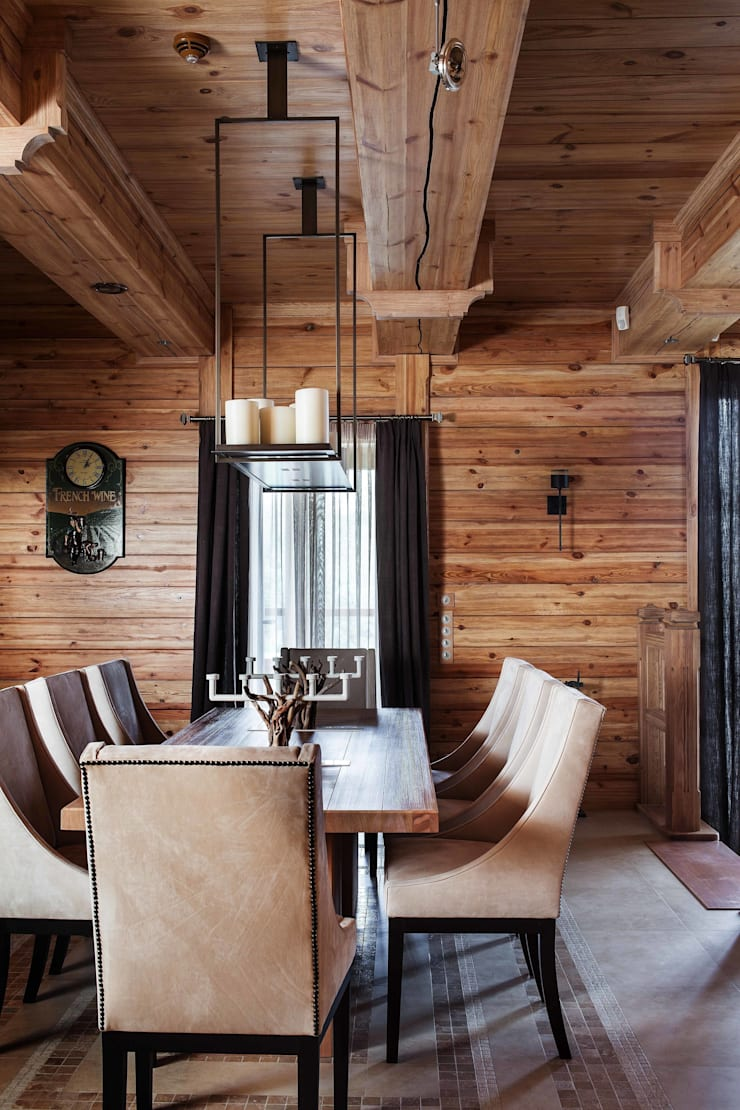 Rustic style dining room by Архитектор Татьяна Стащук Rustic