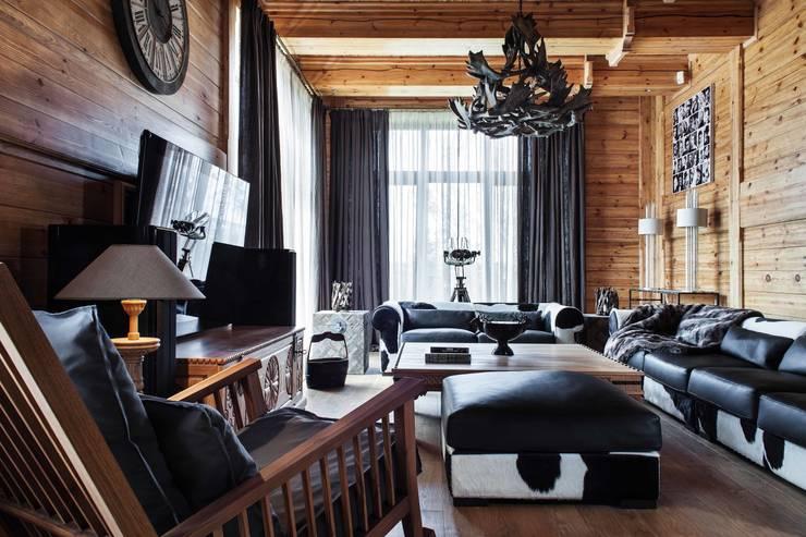 Шале: Гостиная в . Автор – Архитектор Татьяна Стащук