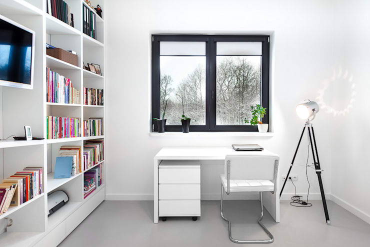 Study/office by COCO Pracownia projektowania wnętrz, Minimalist
