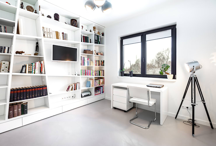 Oficinas de estilo  por COCO Pracownia projektowania wnętrz