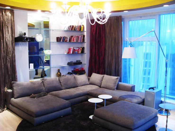 Квартира на Петровском острове в Санкт-Петербурге: Гостиная в . Автор – Format A5 Fontanka,