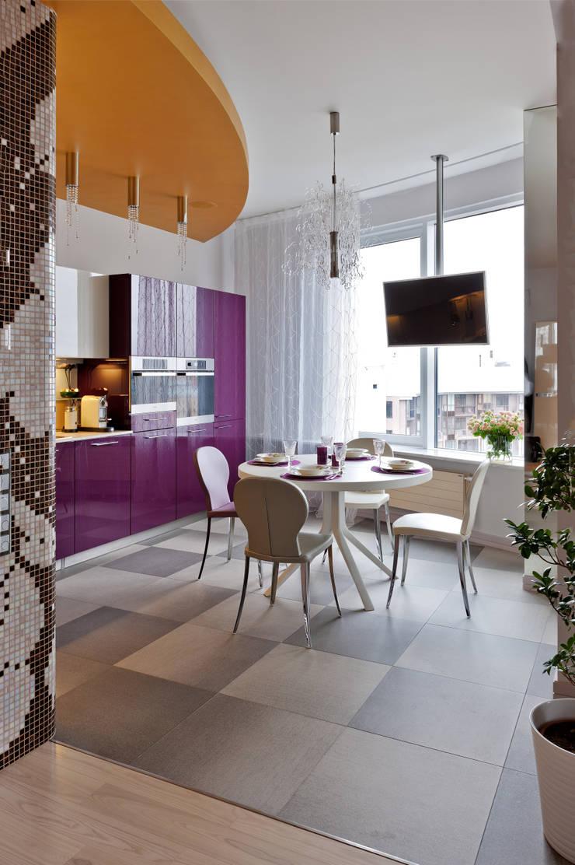 Квартира на Петровском острове в Санкт-Петербурге: Кухни в . Автор – Format A5 Fontanka,
