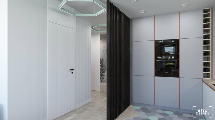 63 m2: styl , w kategorii Kuchnia zaprojektowany przez ADV Design,Minimalistyczny
