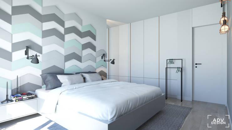 63 m2: styl , w kategorii Sypialnia zaprojektowany przez ADV Design,Minimalistyczny