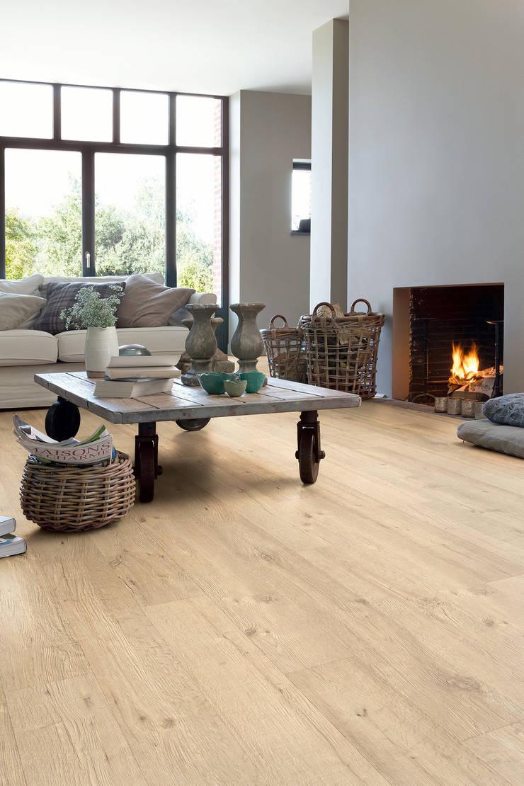 Sandblasted Oak Natural:  Walls & flooring by Quick-Step