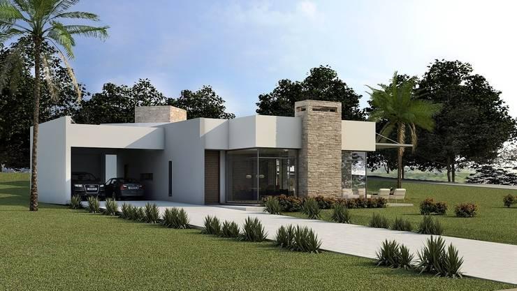 Casa Paragem : Casas  por Arq. Leonardo Silva