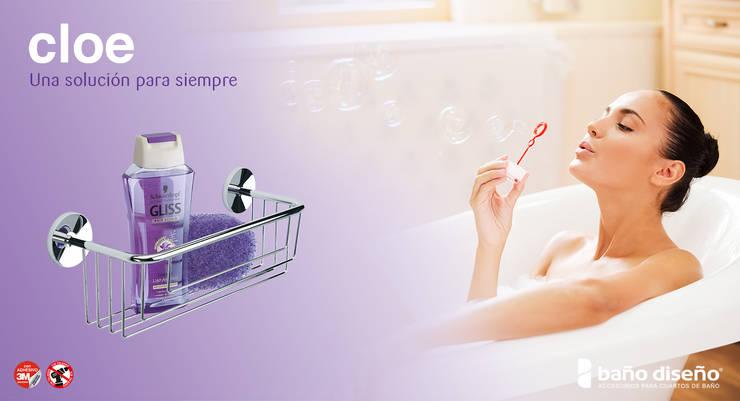 Colección CLOE - accesorios de baño adhesivos - Baño Diseño : Baños de estilo  de Baño Diseño