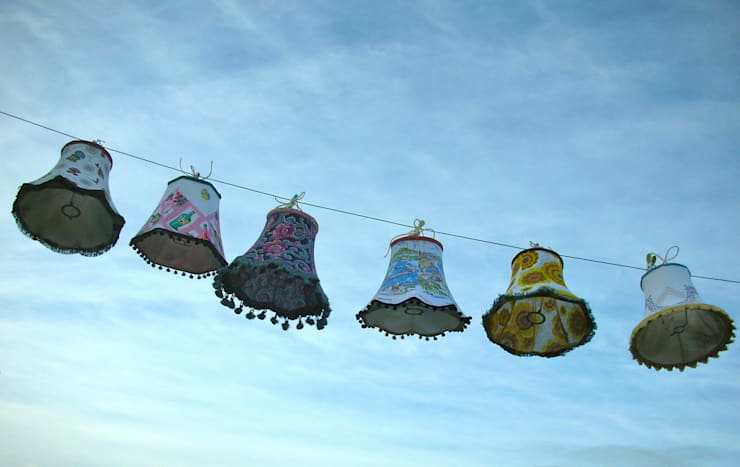 Small assorted lampshades:  Household by Random Makes