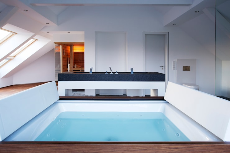 minimalistische Badkamer door gmyrekarchitekten