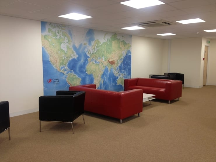 Standard World Map :  Walls & flooring by Wallpapered