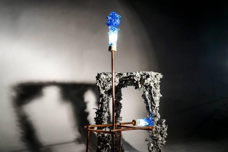 Kaarsrecht:  Woonkamer door Studio Pascal Smelik, Modern