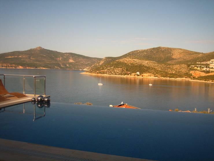 A Holiday Home in Turkey: modern Pool by Sarah Ward Associates