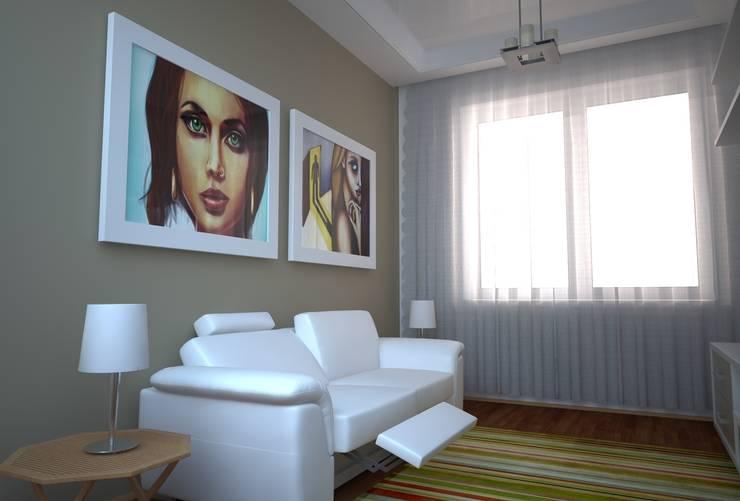 Гостинная: Гостиная в . Автор – ArtDK
